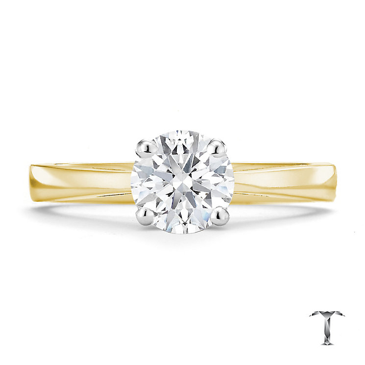 Tolkowsky 18ct yellow gold 1.00ct HI-SI2 diamond ring - Product number 8699097
