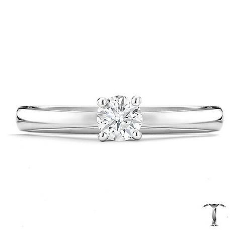 Tolkowsky platinum HI SI2 1/4 carat diamond ring
