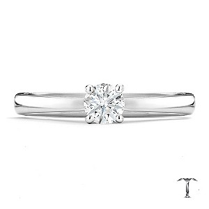 Tolkowsky platinum HI SI2 1/3 carat diamond ring - Product number 8699410