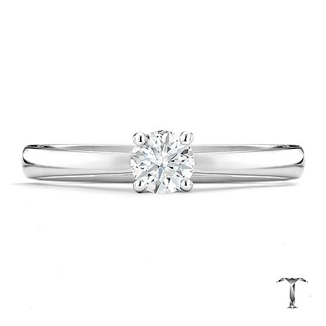 Tolkowsky platinum HI SI2 1/3 carat diamond ring