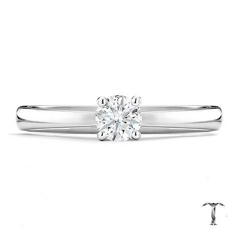 Tolkowsky platinum HI SI2 1/3 carat diamond ring
