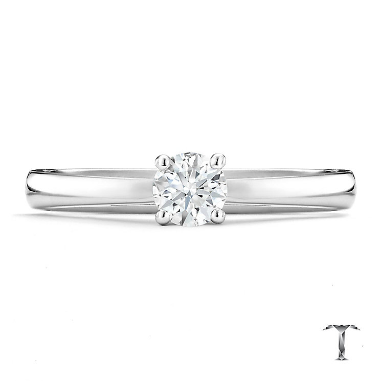 Tolkowsky platinum 0.33ct HI-SI2 diamond ring - Product number 8699410