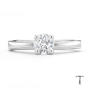 Tolkowsky platinum HI SI2 1/2 carat diamond ring - Product number 8699569