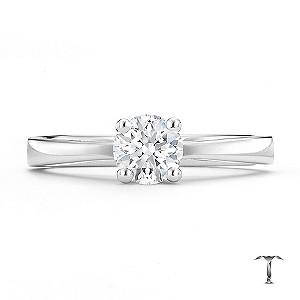 Tolkowsky platinum HI SI2 0.50ct diamond ring - Product number 8699569