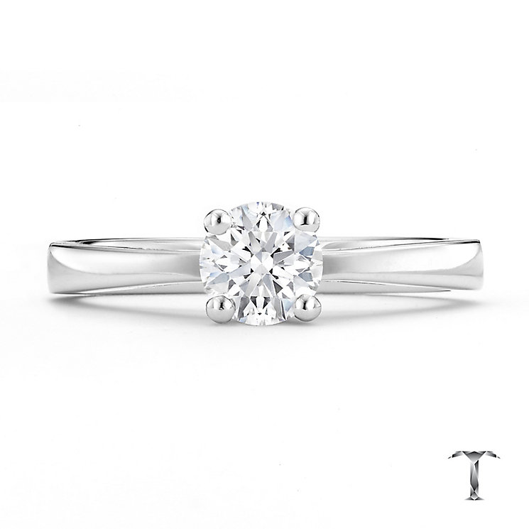 Tolkowsky platinum HI SI2 0.50ct diamond ring - Product number 8699569