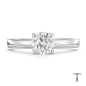 Tolkowsky platinum HI SI2 3/4 carat diamond ring - Product number 8700028