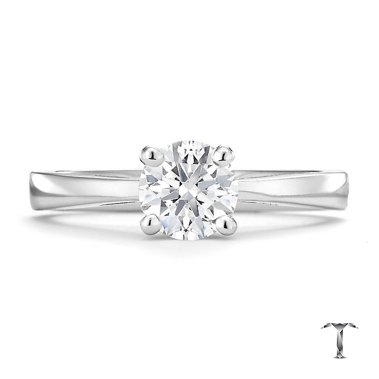 Tolkowsky platinum 1.00ct HI-SI2 diamond ring - Product number 8700141