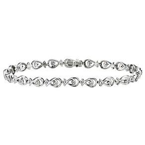 Sterling silver & diamond set bracelet - Product number 8700605