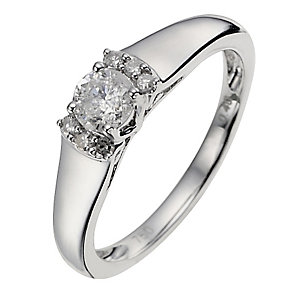 18ct White Gold 0.40 Carat Diamond Solitaire Ring - Product number 8703213
