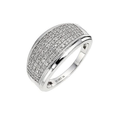 18ct white gold half carat diamond Celebration ring