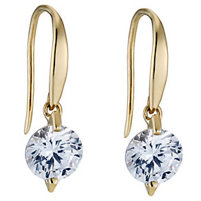 9ct yellow gold made with Swarovski Zirconia drop earrings - Product number 8706034