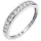 9ct white gold cubic zirconia channel set eternity ring - Product number 8707464