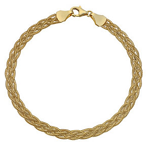 9ct yellow gold herringbone bracelet - Product number 8708010
