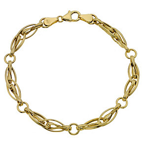 9ct yellow gold link bracelet - Product number 8708037