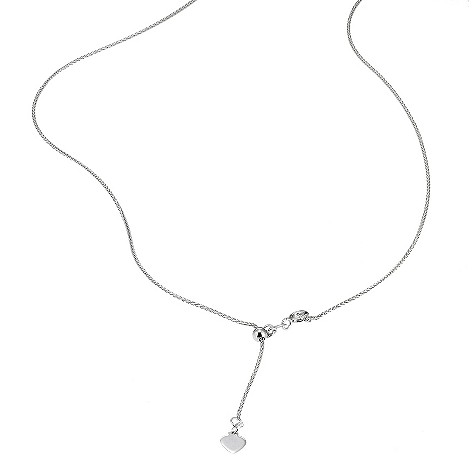 18ct white gold Spiga necklace