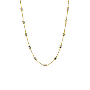 9ct two tone diamond cut station necklace - Product number 8708231