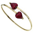 9ct yellow gold red Venetian heart bangle - Product number 8708398