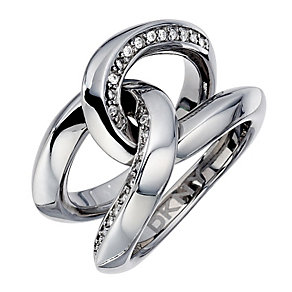 DKNY Organic Stainless Steel And Crystal Glitz Ring - Product number 8708584