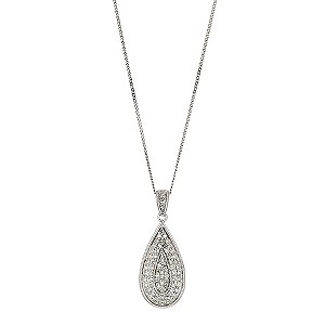 9ct white gold half carat diamond Celebration pendant - Product number 8708630