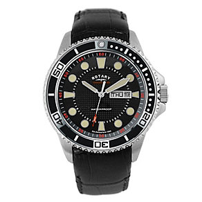 Rotary Men's Black Strap Watch - Product number 8710910