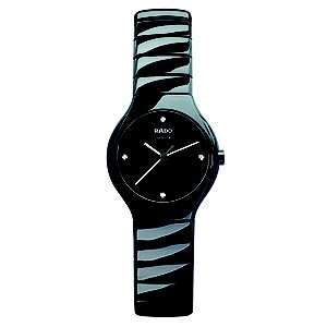 Rado True ladies' black ceramic bracelet jubilé watch - S - Product number 8712166