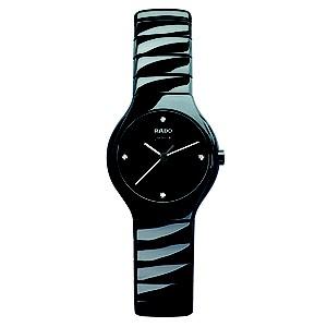 Rado True ladies' black ceramic bracelet jubilé watch - S - Product number 8712166