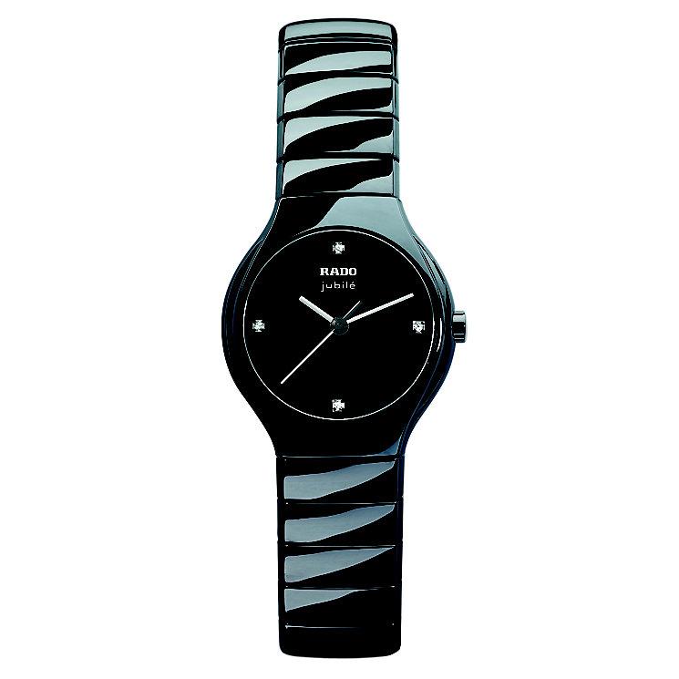 Rado True ladies' black ceramic bracelet jubile watch - S - Product number 8712166
