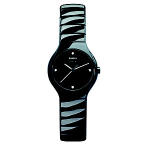 Rado True ladies' black ceramic bracelet jubile watch - S - Product number 8712166