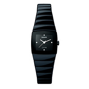 Ladies' Rado black ceramic bracelet watch - Product number 8712328