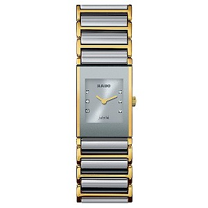Ladies' Rado diamond dial silver bracelet watch - Product number 8712352