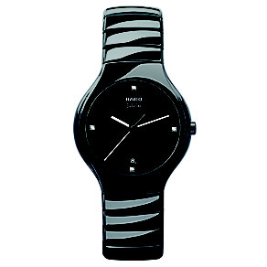 Rado men's black ceramic diamond set bracelet watch - Product number 8712360