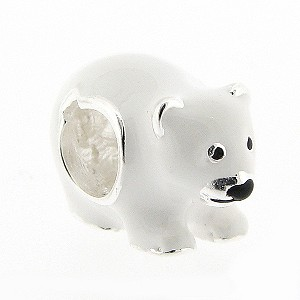 Sterling Silver Polar Bear Bead