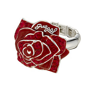 Guess Red Stone Set Rose Ring - Product number 8714088