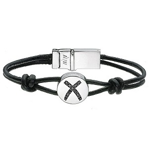 Amanda Wakeley silver treated black diamond love bracelet - Product number 8714150