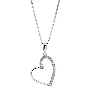 Sterling silver heart pendant - Product number 8716374