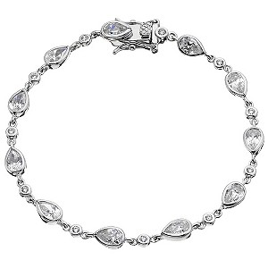 Sterling silver pear bracelet - Product number 8716625