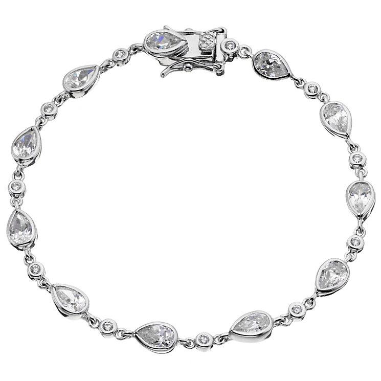 Sterling silver pear bracelet - Product number 8716625