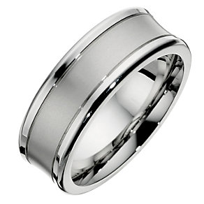 Men's 8mm Cobalt Concave Ring - Product number 8716633