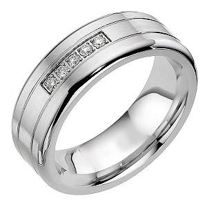 Cobalt 5 Diamond Groove Ring
