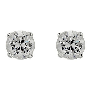 Silver cubic zirconia stud earrings - Product number 8717184