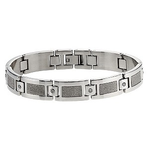 Stainless steel & cubic zirconia bracelet - Product number 8718393