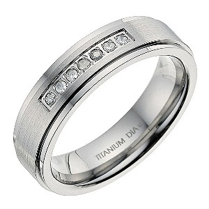 Titanium Diamond Channel Ring