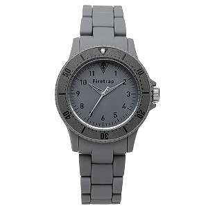 Firetrap Ladies' Grey Rubber Strap Watch - Product number 8719799