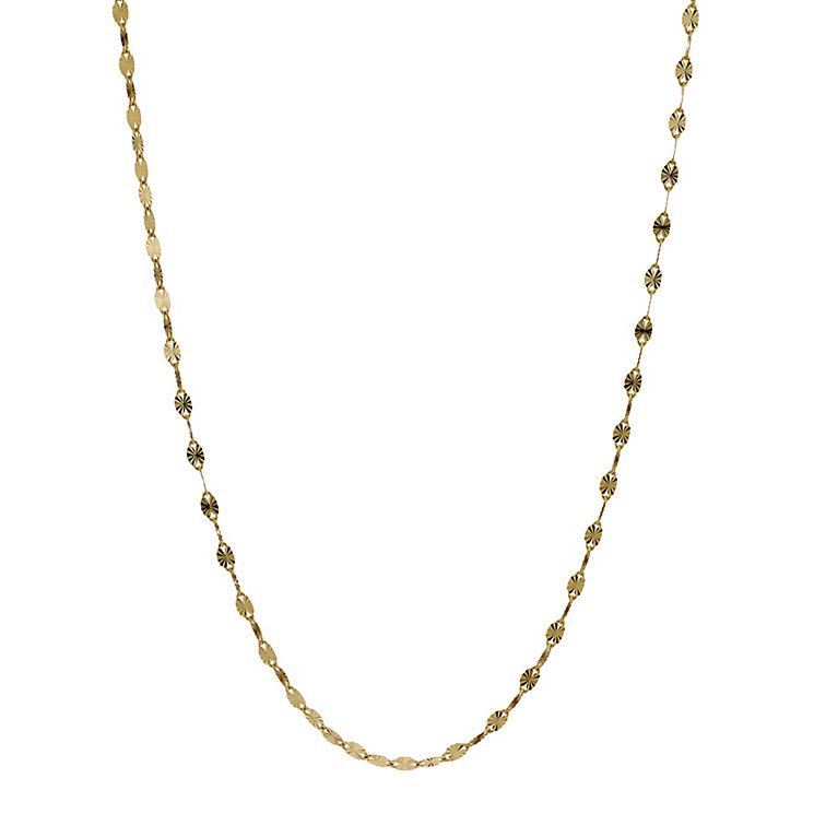 "9ct Yellow Gold 17"" Fancy Disc Necklace - Product number 8719810"
