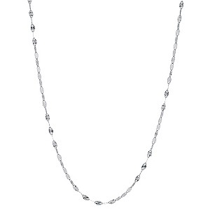 9ct White Gold Disc Chain