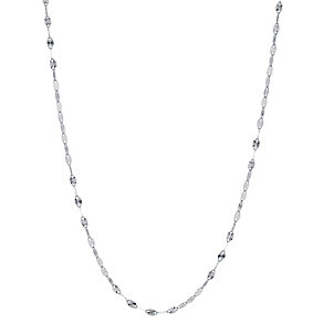 9ct White Gold Disc Chain - Product number 8719829