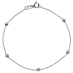 9ct White Gold Ball Bracelet - Product number 8720584