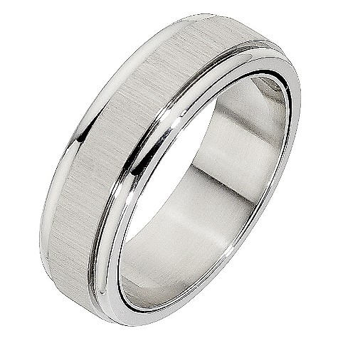 Unique stainless steel spinner ring
