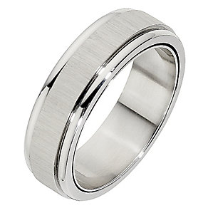 Unique stainless steel spinner ring - Product number 8722994