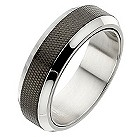 Polished steel and black matt center spinner ring - Product number 8723125